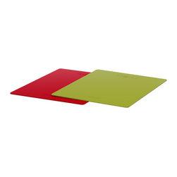 DRÄLLA Bendable chopping board - Bendable chopping board, green, red
