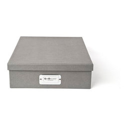Bigso - Bigso Basix Letter Box - Grey, Set of 3 - Mix and match colors until your heart's content with our Basix Letter Boxes. With a stretch of your imagination, this red A4 size box holds more than letter size documents. Think thank you notes, labels, stationery and all your favorite pretty papers. Metal label holder reminds you of what's stored inside.