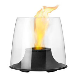 Stelton - Fuego Bioethanol Firelight - Stelton - Just throw a blanket over your shoulders, grab a glass of good wine and enjoy the dance of the beautiful, fascinating flame. Stelton's simple, elegant bio-firelight sets the scene for a cozy evening on the patio or balcony. Let yourself be seduced by the fire playing behind the glass as your thoughts dance in step with the flames. This wonderful little firelight is powered by bio-ethanol (denatured alcohol) which is not only a renewable energy source that is derived from agriculture feedstocks (such as corn) but its only emissions are steam and very low levels of CO2 (oh, and heat!). Bio-ethanol fuel can be purchased at most hardware stores.