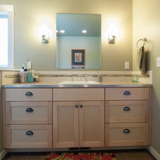 Modern Vanity Tops And Side Splashes by Petrina Construction INC