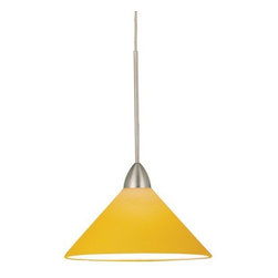 WAC Lighting - WAC Lighting MP-LED512-AM LED Jill Monopoint Pendant with Amber Glass - Canopy I - WAC Lighting MP-LED512 LED Monopoint Jill PendantThe colorful designer look of hand blown, cased glass pendants etched in an assortment of candy colors.�Features:
