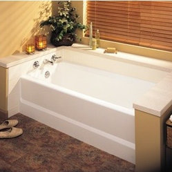Swanstone BT-3060L-010 Veritek 60-Inch Tub with Apron and Left Hand Drain, White