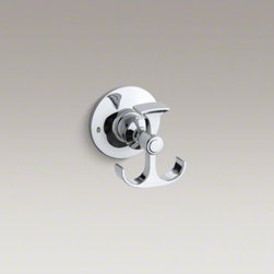 KOHLER - KOHLER Archer(R) robe hook - The timeless appeal of Archer accessories works beautifully with an array of bathroom styles. This anchor-shaped robe hook embodies Archer's classical design lines, allowing you to create a unified bathroom down to the smallest detail.