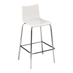Holly & Martin - Holly & Martin Blence Barstools, Set of 2, White - Don't get bent out of shape searching for seating! Spice up the kitchen or bar with a pair of low-back Blence Barstools. The clean, modern style will fit right in, and the subtle contours create just the cozy spot for an evening of relaxing at the bar or anywhere seating when the house is packed. It's easy to step up to the bar with this white bentwood pair.