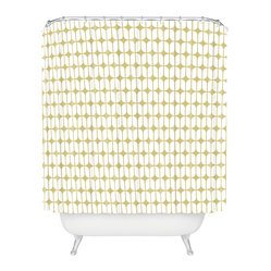 Caroline Okun Modular Beige Shower Curtain