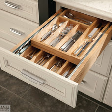 Transitional Kitchen Drawer Organizers by KraftMaid