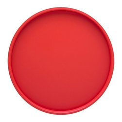 Kraftware - Serving Tray in Red - Made in USA. 14 in. Dia. (1.5 lbs.)Our fun colors collection features the hottest colors for the season, to provide you with great entertaining items, with up to the minute styling. Great for indoor and outdoor entertaining.