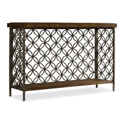 Hooker Furniture - Hooker Furniture Accents Patterned Iron Console Table 5092-85001 - Hooker Furniture Accents Patterned Iron Console Table 5092-85001