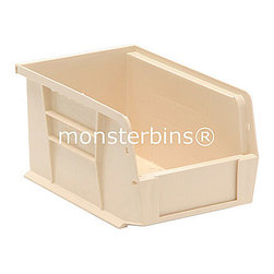 Plastic Bins - Stacking - These stackable plastic bins come in cartons of 12.  The dimensions are 10-7/8 x 5-1/2 x 5.  Available in multiple colors as well as clear.  Use these all around your house to keep track of small parts and supplies.