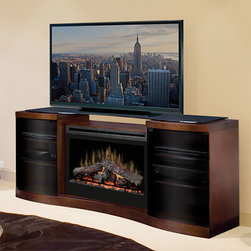 "Dimplex - Acton Walnut Electric Fireplace Entertainment Center with Logs - GDS33-1246WAL - Acton Walnut Electric Fireplace Entertainment Center with Logs offers instant warmth in rooms up to 400 sq. ft. The modern design makes it possible to keep all your media components in one place, while a 33"" fireplace offers ambiance with or without heating."
