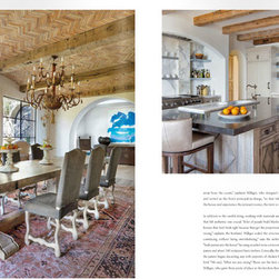 Luxe Magazine San Diego - The kitchen design with our Waterstone Gantry Suite in the background. Photos by Nick Johnson