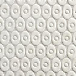 Tilt Alexander Oval in White Crackle - Ceramic and Terracotta