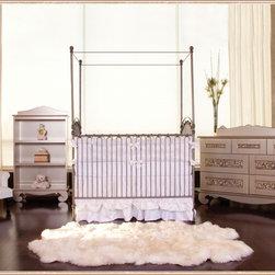 Venetian Iron Crib in Pewter by Bratt Decor - Venetian 3 in 1 Crib in Pewter by Bratt Decor