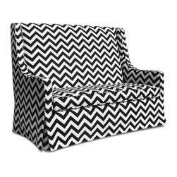 Luxe Child Sofa - I'm swooning over this chevron mini sofa. It's so trendy and yet, so needed!
