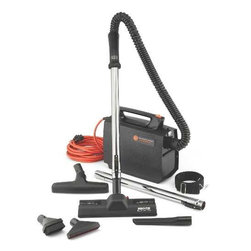 "HOOVER COMPANY - PORTAPOWER LIGHTWEIGHT VACUUM CLEANER - 10"" cleaning path, 7.4 Amp motor, lightweight and portable, reusable shake-out cloth bag with optional paper bag, super stretch hose for extended reach, built-in blower feature, fingertip on/off switch, tools include crevice tool, wall/floor brush tool, dusting brush, and furniture nozzle, 33.5' SJT cord, 8.3 lbs, 2 year commercial warranty"