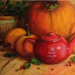 """Keep Calm"" (Original) By Tatiana Roulin - ""Keep Calm"" Is Directly Painted Artwork, Created In Alla Prima Technique."
