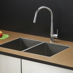 Ruvati - Ruvati RVC2332 Stainless Steel Kitchen Sink and Chrome Faucet Set - Ruvati sink and faucet combos are designed with you in mind. We have packaged one of our premium 16 gauge stainless steel sinks with one of our luxury faucets to give you the perfect combination of form and function.
