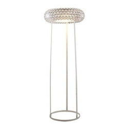 Halo Acrylic Crystal Floor Lamp - Add modern sophistication to your home or office with the Halo Acrylic Crystal Floor Lamp. With its acrylic crystal, 3D bubbles and oval shape, this lamp is sure to get noticed. It features a slender yet sturdy white iron base that creates a spacious look. It requires a 60-watt bulb (not included).About East End ImportsEast End Imports is based in New York City. They design and manufacture modern furniture and lighting that has an elegant, exciting, look that doesn't go out of style. East End Imports offers high-quality, innovative furniture at an affordable price. Their seating options, lounge furniture, and lighting are just right for the modern office, home bar, outdoor living space, or contemporary home. Quality construction and superb design make each piece a style statement of which you'll never tire.