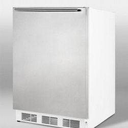 Summit - CT66SSHH 5.3 cu. ft. Deluxe Under-counter Refrigerator-Freezer  Wrapped Stainles - SUMMITs CT-66SSHH is a deluxe under-counter refrigerator-freezer with a wrapped stainless steel door with horizontal stainless steel towel bar handle with our exclusive dual-evaporator cooling for a freezer that really freezes with separate evaporato...