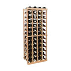 Wine Cellar Innovations - Vintner 4 ft. 4-Column Individual Wine Rack (All-Heart Redwood - Unstained) - Choose Wood Type and Stain: All-Heart Redwood - UnstainedBottle capacity: 52. Four column wine rack. Versatile wine racking. Custom and organized look. Beveled and rounded edges. Ensures wine labels will not tear when the bottles are removed. Can accommodate just about any ceiling height. Optional base platform: 18.7 in. W x 13.38 in. D x 3.81 in. H (5 lbs.). Wine rack: 18.7 in. W x 13.5 in. D x 47.19 in. H (6 lbs.). Vintner collection. Made in USA. Warranty. Assembly Instructions. Rack should be attached to a wall to prevent wobble