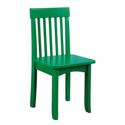 """KidKraft - Kidkraft Kids Room Decorative Children Relaxing Wooden Avalon Chair Green - Children love sitting down and relaxing in our Avalon Chairs. Our heirloom-quality Avalon Chair is crafted form solid wood to endure rigorous use through childhood. Available in a variety of colors, mix and match the chairs for a customized look that enhances the decor of your child's room. Dimension: 13.75""""Lx 13.13""""Wx 26.75""""H, Seat: 14""""H"""