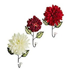 Flower Wall Hooks - These are bright, bold and beautiful! I'd love a set of these in my guest bathroom for a pop of color and for functionality. My guests could you them as towel hooks or hang any of their personal belongings while they stay with me.