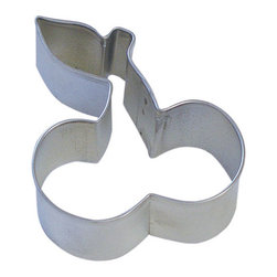 "RM - Cherry 3 In. B1281X - Cherry cookie cutter, made of sturdy tin, Size 3"" long. Depth 7/8 in., Color silver."