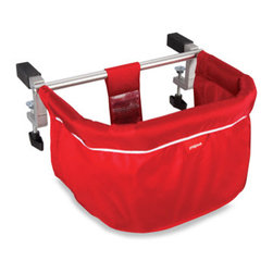 Phil & Teds ME TOO Portable Highchair - Red - This is a portable highchair! It saves space in your kitchen and is easy to travel with.
