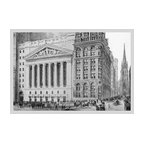"""Buyenlarge.com, Inc. - New York Stock Exchange, 1911- Gallery Wrapped Canvas Art 12"""" x 18"""" - Another high quality vintage art reproduction by Buyenlarge. One of many rare and wonderful images brought forward in time. I hope they bring you pleasure each and every time you look at them."""