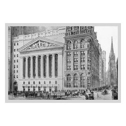 "Buyenlarge.com, Inc. - New York Stock Exchange, 1911- Gallery Wrapped Canvas Art 12"" x 18"" - Another high quality vintage art reproduction by Buyenlarge. One of many rare and wonderful images brought forward in time. I hope they bring you pleasure each and every time you look at them."