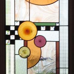 Custom Art Glass For A Back Door A Back Door Done In