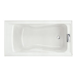 "American Standard - American Standard 2422.V002.020 Evolution Soak Bath Tub, White - American Standard 2422.V002.020 Evolution Soak Bath Tub, White. This soaking bath tub features an acrylic construction with fiberglass reinforcement, a dual molded-in set of armrests, a pre-leveled tub bottom, and it has an undermount option, as well as a recessed installation option. It measures 60"" by 32"" by 21-1/2""."