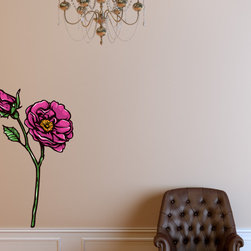Floral Flower Vinyl Wall Decal FloralFlowerUScolor054; 12 in. - Vinyl Wall Decals are an awesome way to bring a room to life!