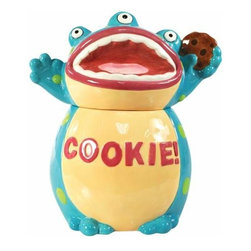 WL - 10.5 Inch Blue and Green Three Eyed Cookie! Monster Ceramic Cookie Jar - This gorgeous 10.5 Inch Blue and Green Three Eyed Cookie! Monster Ceramic Cookie Jar has the finest details and highest quality you will find anywhere! 10.5 Inch Blue and Green Three Eyed Cookie! Monster Ceramic Cookie Jar is truly remarkable.
