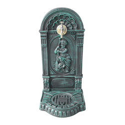 Serenity Garden Spigot Wall Fountain - Verdigris - The Serenity Garden Spigot Wall Fountain will make an excellent addition to your outdoor landscaped area. Use this outdoor faucet to fill your watering can or wash your hands after landscaping.