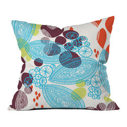 DENY Designs - DENY Designs Khristian A Howell Daydream Throw Pillow - A modern take on your grandma's throw pillow. Based out of Denver, CO, DENY works with artists and art communities from all over the world to create custom home decor accessories just for you. Liven up the room with the DENY Designs Khristian A Howell Daydream Throw Pillow, perfect for the bed, sofa, or lounge! With bright purple, blue, salmon, and green prints against a white background, each fade-resistant pillow uses a special dye printing process for plush comfort and vivid colors at home. Transform your home into a fun and inviting space with a few easy additions!Custom printed to orderFade resistantWoven polyester coverConcealed zipper6-color dye processKhristian A Howell collection
