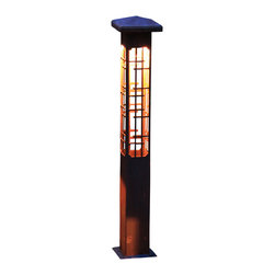 "Attraction lights - Path Light-Decorative Steel-Lantern Design, 17"" - -Solid, 1/8"" high grade steel construction"