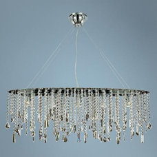 "Divine Ice Swarovski Strass 38"" Wide Ceiling Pendant Light 