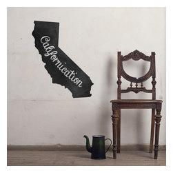 WallsNeedLove - California Chalkboard State Wall Decal - Size: 24 x 48