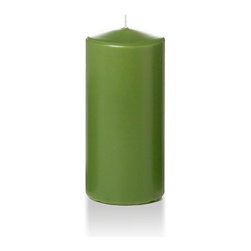 "Neo-Image Candlelight Ltd - Set of 3 - Yummi 3"" x 6"" Green Tea Round Pillar Candles - Our unscented 3""x6"" Round Pillar Candles are ideal when creating a beautiful candlelight arrangement for the home or wedding decor.  Available in 44 trendy candle colors hand over dipped with white core to match and compliment your home decor or wedding centerpiece decoration."