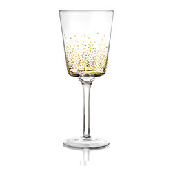 Jay Import Co. - Gold Luster Red Wine Goblet Set of 4 - Give a toast with these beautiful Gold Luster Set of 4 Red Wine Goblets from Fitz & Floyd. Lightweight and durable, these beautiful Glasses are the perfect way to toast, drink and enjoy.
