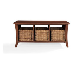 Crosley - Wallis Entryway Storage Bench - Dimensions:  45.8 x 19.5 x 9 inches
