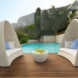 Outdoor Wicker Pod - The Nesting Pod offers a private oasis fro relaxation and contemplation.