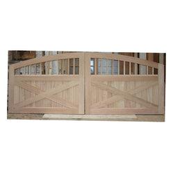 Gates Pair Of Custom Wood Driveway Gates Photo And