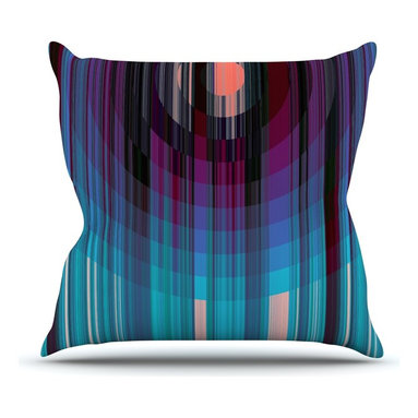 """KESS InHouse - Nina May """"Nova Sun"""" Blue Geometric Throw Pillow, Outdoor, 18""""x18"""" - Decorate your backyard, patio or even take it on a picnic with the Kess Inhouse outdoor throw pillow! Complete your backyard by adding unique artwork, patterns, illustrations and colors! Be the envy of your neighbors and friends with this long lasting outdoor artistic and innovative pillow. These pillows are printed on both sides for added pizzazz!"""