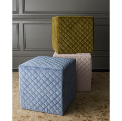 modern ottomans and cubes by Horchow