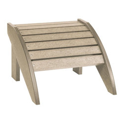 C.R. Plastic Products - C.R. Plastics Footstool In Beige - Can be used for residential or commercial use, Ergonomically designed, Heavy 78 gauge plastic lumber 12 used by competitors, All stainless steel hardware, No painting, No slivers, No Rot, Completely waterproof