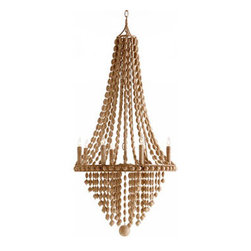 Arteriors Maurice 8L Iron/Wood Chandelier - Maurice 8L Iron/Wood Chandelier