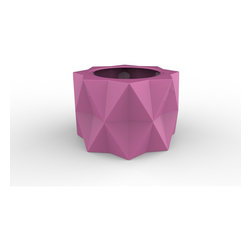 Decorpro - Buntry Planter (BUBBLE GUM) - Made from a non-toxic food grade polymer based fiberglass resin, these contemporary planters will never rot, mildew, split, cup or warp. This material offers an unparalleled combination of uniformity, durability and beauty. These modern outdoor planters are available in our standard colours or you have the option of selecting a custom colour. Decorpro planters meet all your performance and durability requirements. Whether exposed to salt water the rough and tumble of everyday wear and tear of home or commercial use, our gel coats maintain a beautiful finish no matter how tough the conditions get.