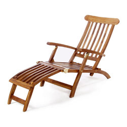 All Things Cedar - Teak Steamer Chair - Our Teak Steamer Chair features a multi-position back for your lounging comfort. Mortise and tenon construction using solid Javanese Teak. - Finished with a light teak oil and fitted solid brass hardware to ensure many years of trouble-free use. Item is made to order.